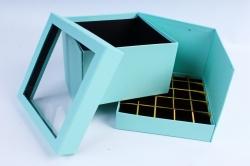 Коробка подарочная одиночная - Куб трансформер тиффани Р15