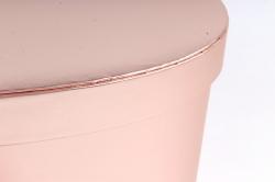 Коробка подарочная одиночная - Сердце трансформер розовое  К827