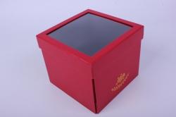 Коробка подарочная одиночная - Куб трансформер Красный Р15