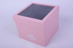 Коробка подарочная одиночная - Куб трансформер Розовый Р15