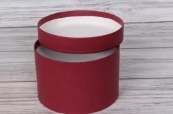 Коробка подарочная одиночная 1шт - Цилиндр Бордовый 18*12  Пин18/12-БД