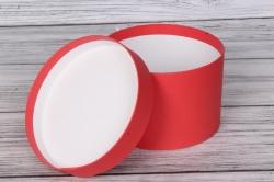 Коробка подарочная одиночная 1шт - Цилиндр Красный (ROSSO) 18*12  Пин18/12-КР