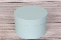 Коробка подарочная одиночная 1шт - Цилиндр Светлоголубой (CELESTE)  18*12  Пин18/12-СГ