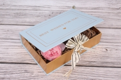 Коробка подарочная одиночная 1шт - Книга небесный 22*15*5см В178