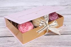 Коробка подарочная одиночная 1шт - Книга орхидея 22*15*5см В178