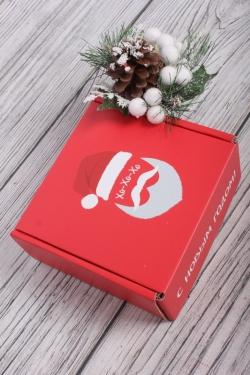 Коробка подарочная одиночная 1шт - Квадрат  Веселый Дед Мороз  135х135х60 (трансф)   Д30203К.011