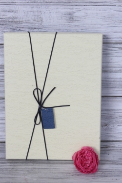 Коробка подарочная одиночная 1шт - Прямоугольник под рубашку крышка шампань 31*23*5см К740