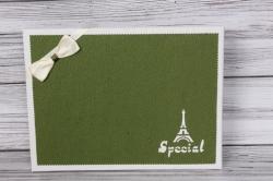Коробка подарочная одиночная 1шт - Прямоугольник под рубашку оливка/белый 31*23*5см К740