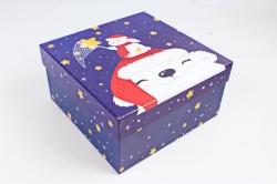 Коробка подарочная (1шт) - Прямоугольник НГ Умка  1шт 4432503