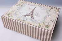 """Коробка подарочная трансформер """"Прямоугольник, башня Эйфелева"""" 26х20х8см 512108"""