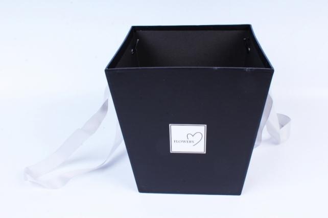 Коробка с ручками  черный 8363 (Н)