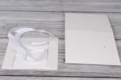 """Коробка транс. """"Однотонная"""" белая 15*15*15 см  1шт  B10331-49  М"""