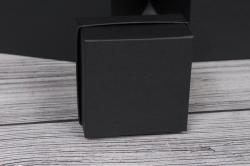 """Коробка транс. """"Однотонная"""" черная 15*15*15 см  1шт  B10331-49  М"""