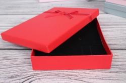 Коробка ювелир. Тиснение с бантом 13*17*2,5 12 шт/уп 10021-84A М