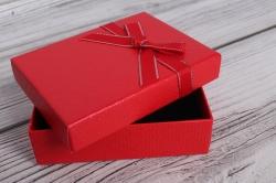 Коробка ювелир. Тиснение с бантом 7*10*2,5 24 шт/уп  10021-80A М
