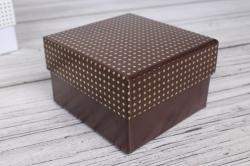 Коробка ювелир. Золотые точки  8,5*9*5,5 12 шт/уп  10021-62A