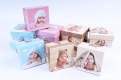 Коробки подарочные одиночные (12шт в уп)-Квадрат Дети  S111-SY301  М
