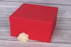 Коробока № 71-1 Квадрат 1 шт. Красный 26,5см*26,5см*14см  Пин71-1-Кр