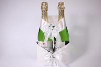Корзина для шампанского с ручкой - белая (16)