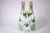 Корзина для шампанского с ручкой - фисташка (16)