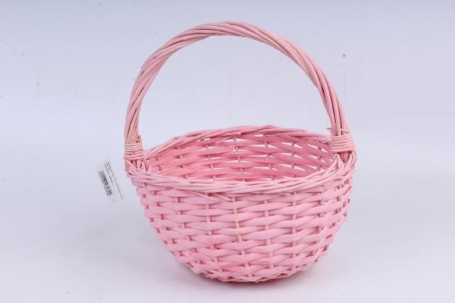 Корзина круглая розовая  КС-95