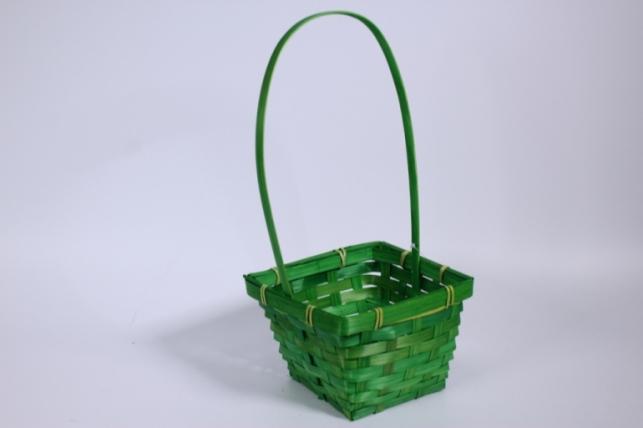 Корзина Квадрат зеленая (бамбук) 1шт (7134)