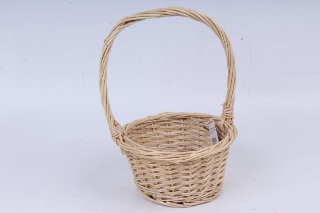Корзина плетеная - (ива) круглая медовая  КС-81