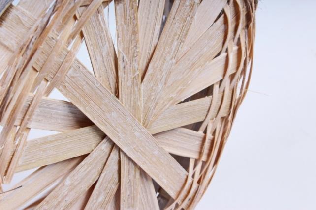 Корзина плетеная (бамбук) - Круг (серая) 1703