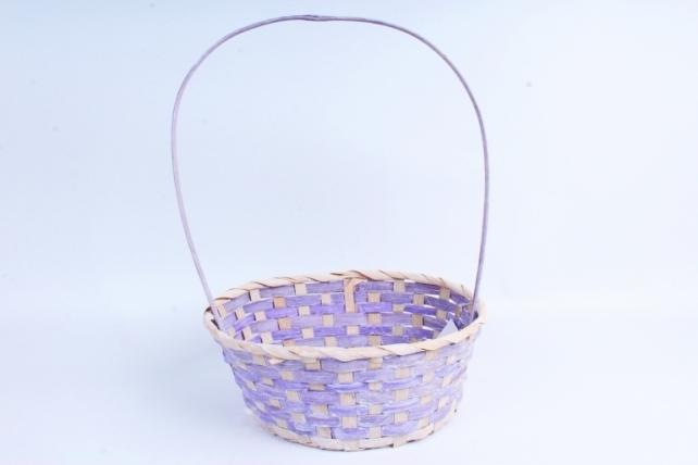 Корзина плетеная (бамбук) - Овал  (фиолетовая) 1970