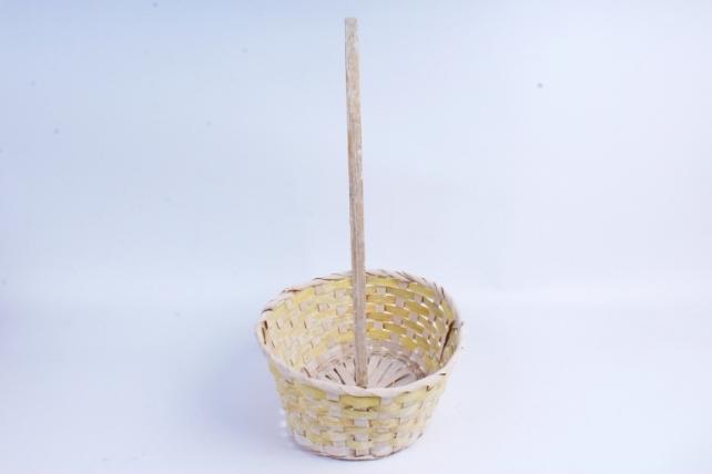 Корзина плетеная (бамбук) - Овал  (желтая) 1963