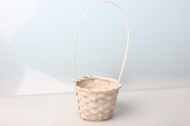 Корзина плетеная (бамбук) белый. 5474