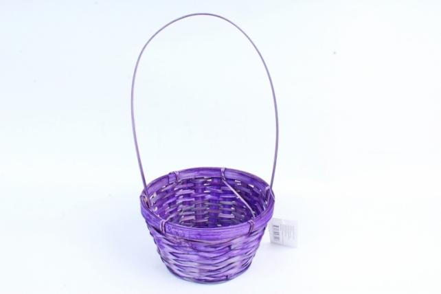 Корзина плетеная (бамбук), (фиолетовая) 3417