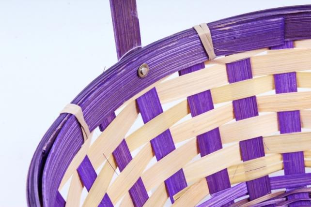 Корзина плетеная (бамбук)  фиолетовый 1203 (Н)