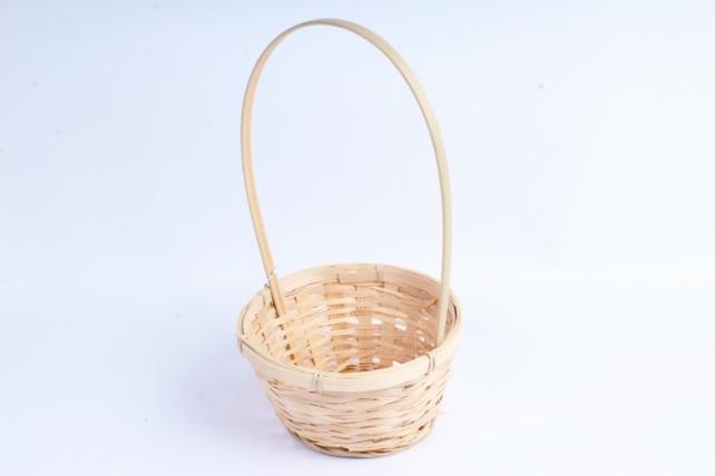 Корзина плетеная (бамбук)  натуральная  0992