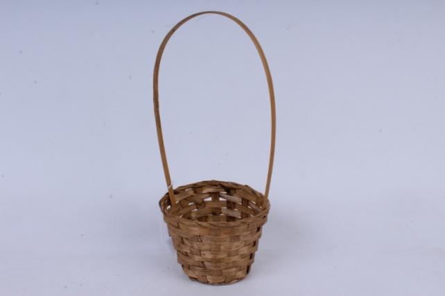 Корзина плетеная (бамбук),  коричневая  0572