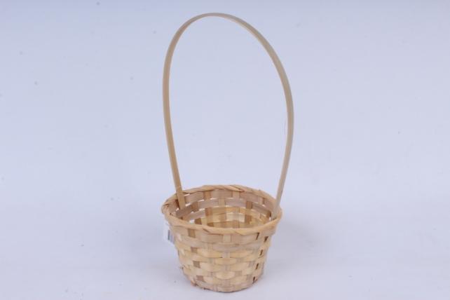 Корзина плетеная (бамбук), натуральная  0565