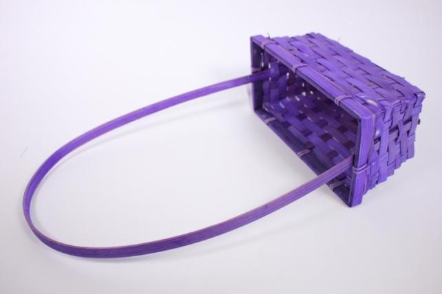Корзинаплетеная(бамбук),D22X11.5H9(фиолетовая)