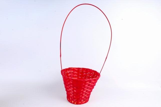 Корзина плетеная (бамбук)  красный 3782