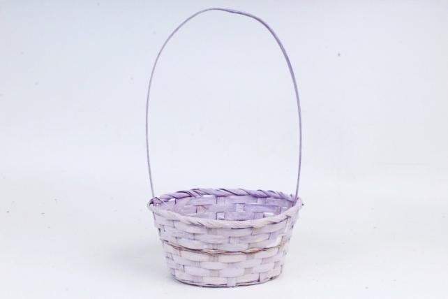 Корзина плетеная (бамбук),  (фиолетовая) 2083