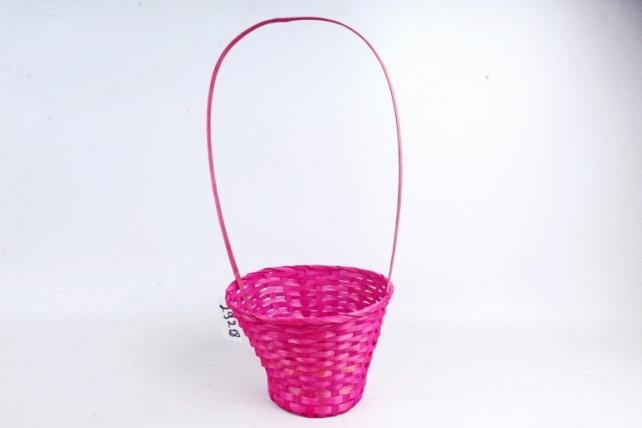 Корзина плетеная (бамбук),  розовый 3799