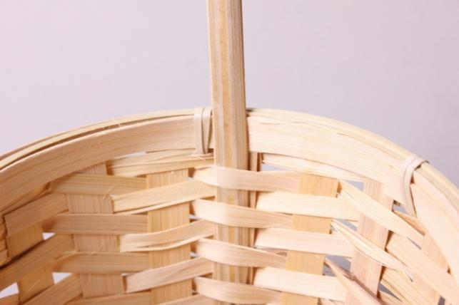 корзина плетеная (бамбук) натуральная d=17, h=10,5/33см 6885