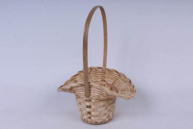 Корзина плетеная (бамбук),  натуральный  0732