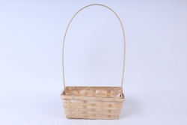 Корзина плетеная (бамбук),  натуральный  0923
