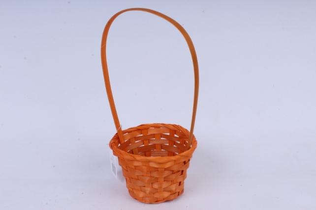 Корзина плетеная (бамбук), оранжевая  0510