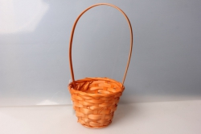 Корзина плетеная (бамбук) оранжевый 3494
