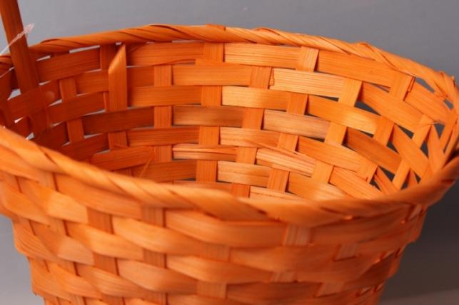 корзина плетеная (бамбук) оранжевый, d=23, h=17/53см 3654