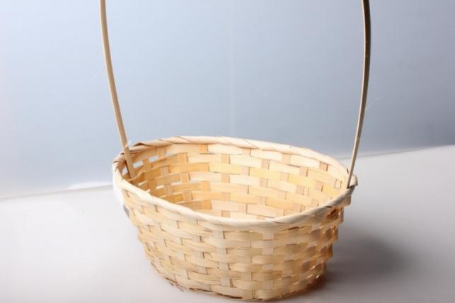 Корзина плетеная (бамбук) овал натуральная 5740.