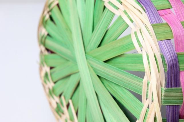 корзина плетеная (бамбук) зелёный d=26, h=11/48см