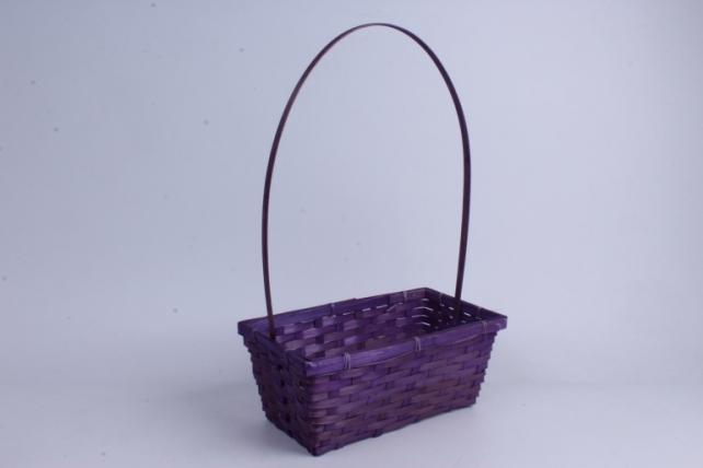 Корзина плетеная (бамбук) - Прямоугольная  (фиолетовая) 1шт 30x17 h=12/47cn