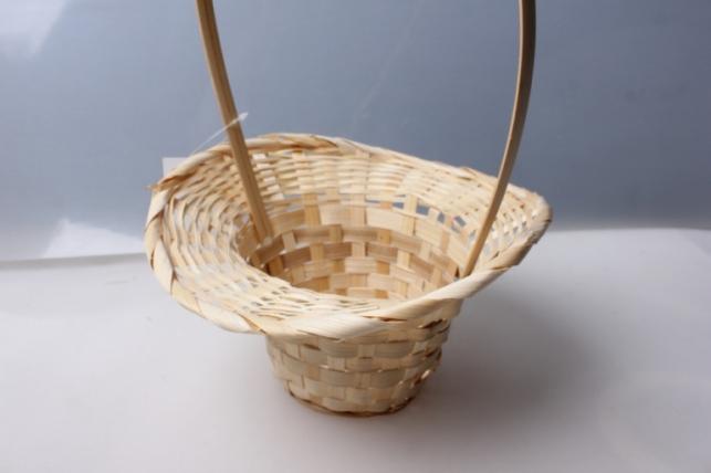 Корзина плетеная (бамбук) шляпа натуральная d=20, h=9/28см 4682